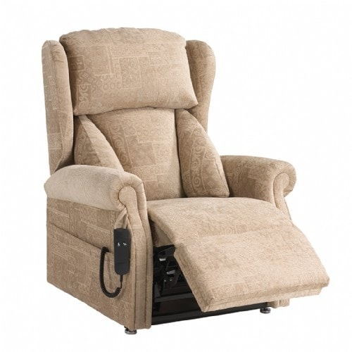 Chepstow riser recliner with leg rest up