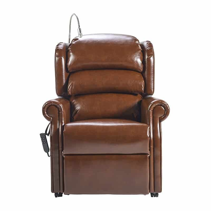 Olympia Riser Recliner Front Oxford Earth