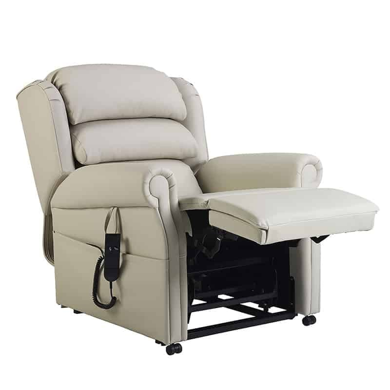 Olympia Recliner Side view Fully Recline