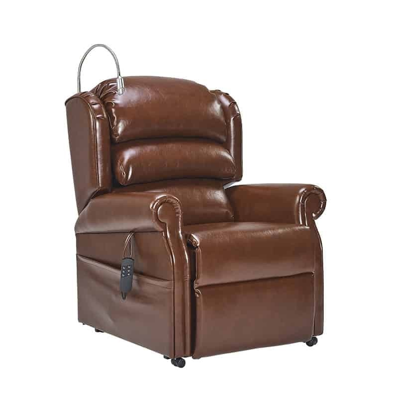 Olympia Riser Recliner Side Oxford Earth