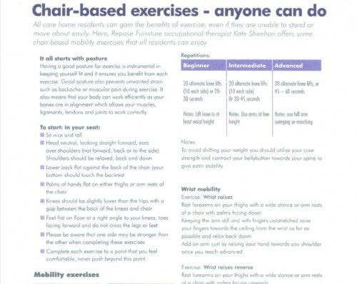 Chair Base Exercises 500