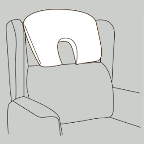Large profile headrest Repose Furniture Boston