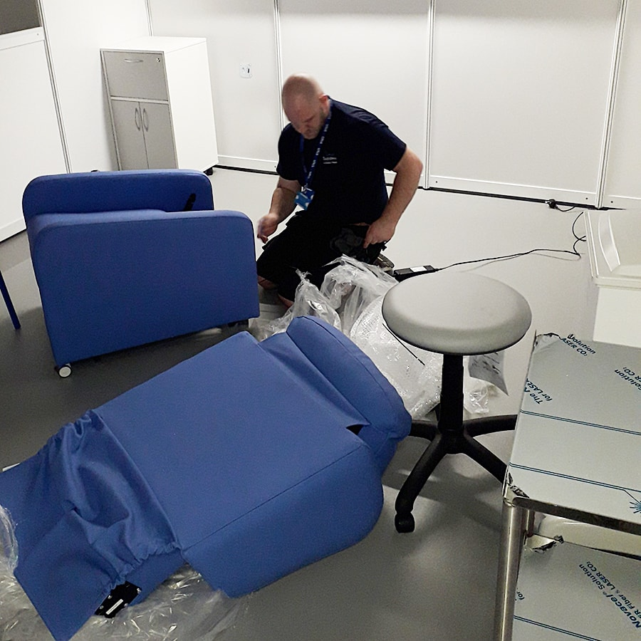 Chairs Being Installed