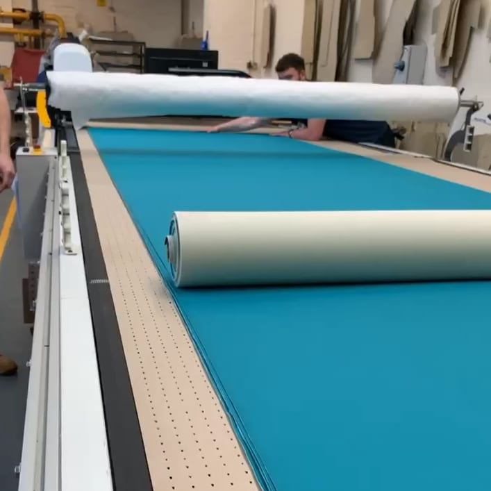 Cutting The Chair Fabric