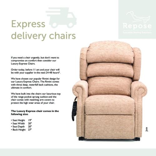 Express Chair Card pdf Repose Furniture Rimini Express Chair