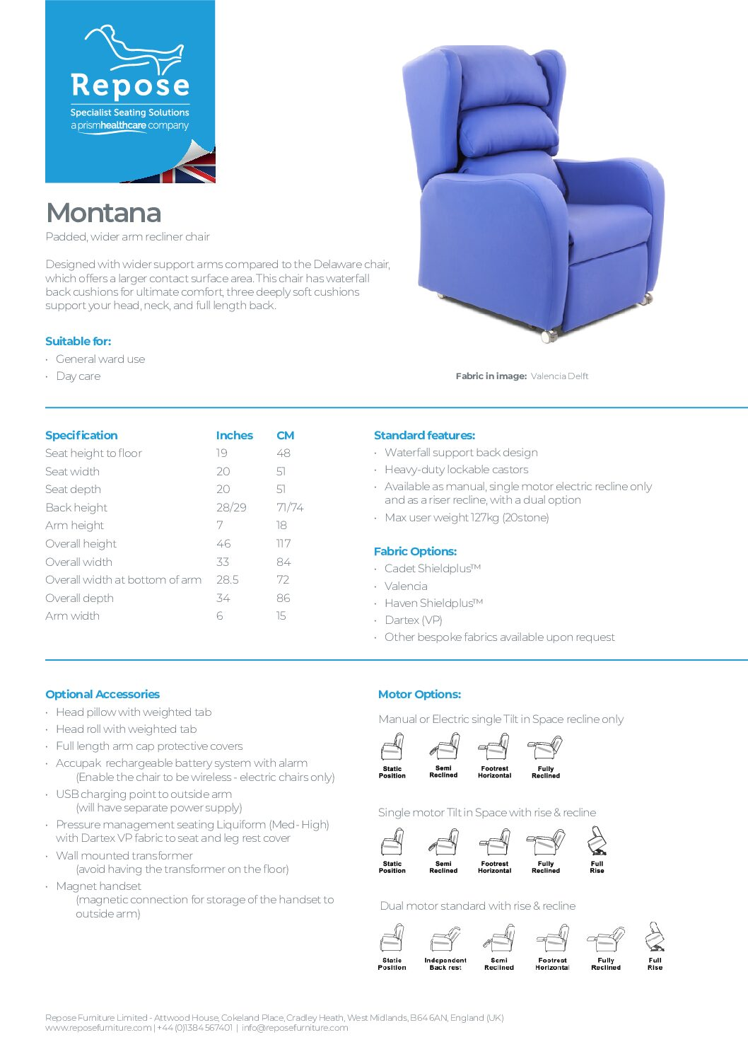 PDF specification Montana v9 1 pdf Repose Furniture Downloads and Brochure Request