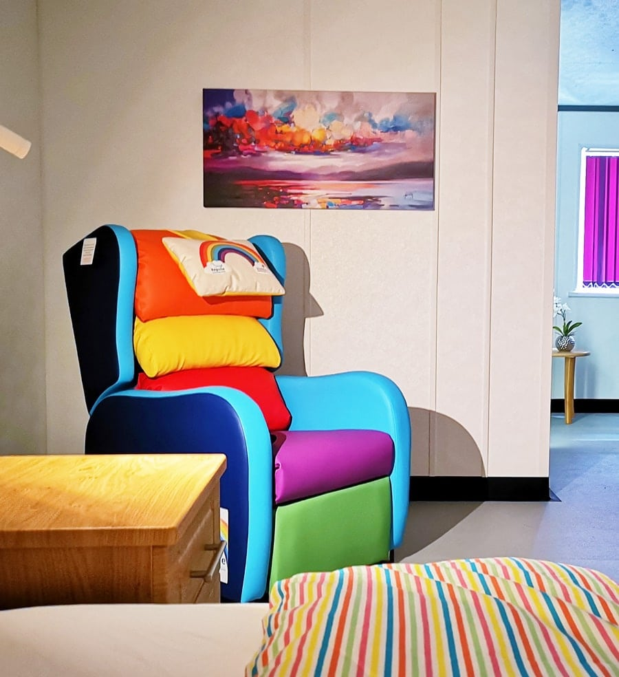 Birmingham Childrens Hospital Rainbow Chair In The Room