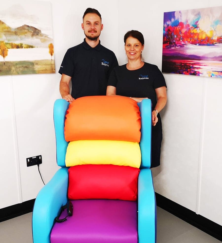 Birmingham Childrens Hospital Rainbow Chair With Staff