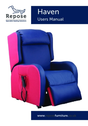 Haven User Manual pdf Repose Furniture User Manuals