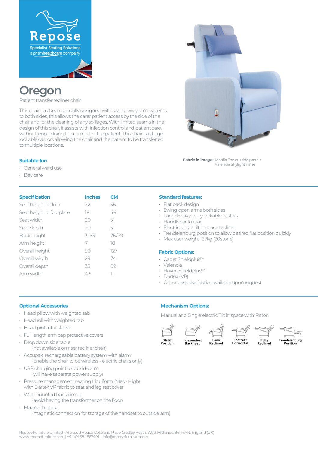 PDF specification Oregon v6 pdf Repose Furniture Downloads and Brochure Request