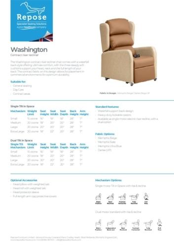 PDF specification washington r1 pdf Repose Furniture Washington