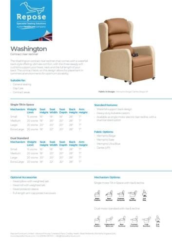 PDF specification washington r2 pdf Repose Furniture Washington
