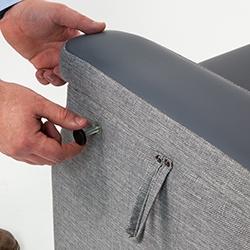 chair arm screw Repose Furniture Lynton