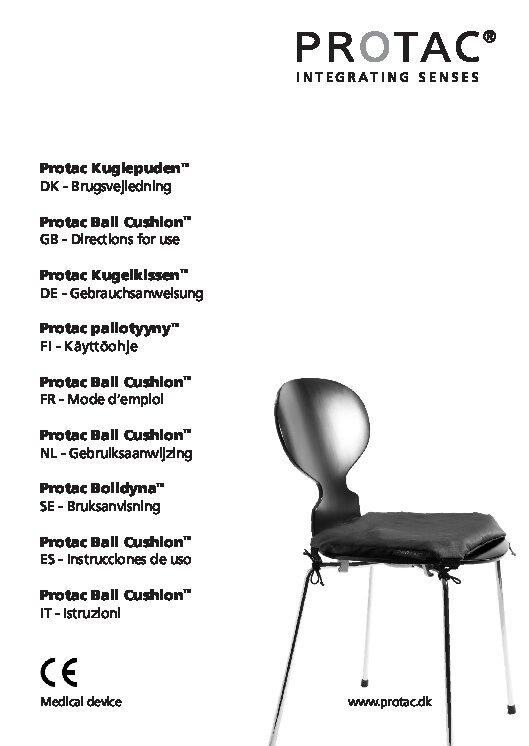 Protac Ball Cushion User Manual pdf Repose Furniture Protac Ball Cushion™ Square