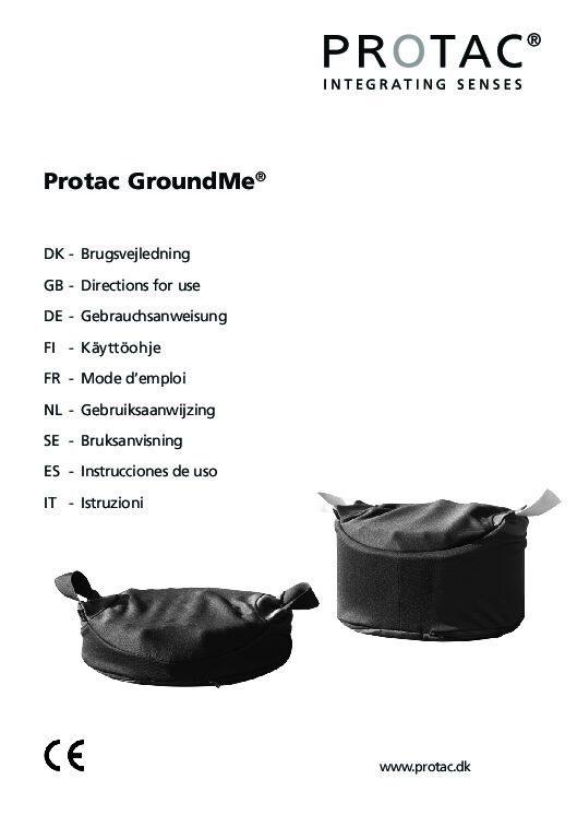 Protac GroundMe pdf Repose Furniture Protac GroundMe®