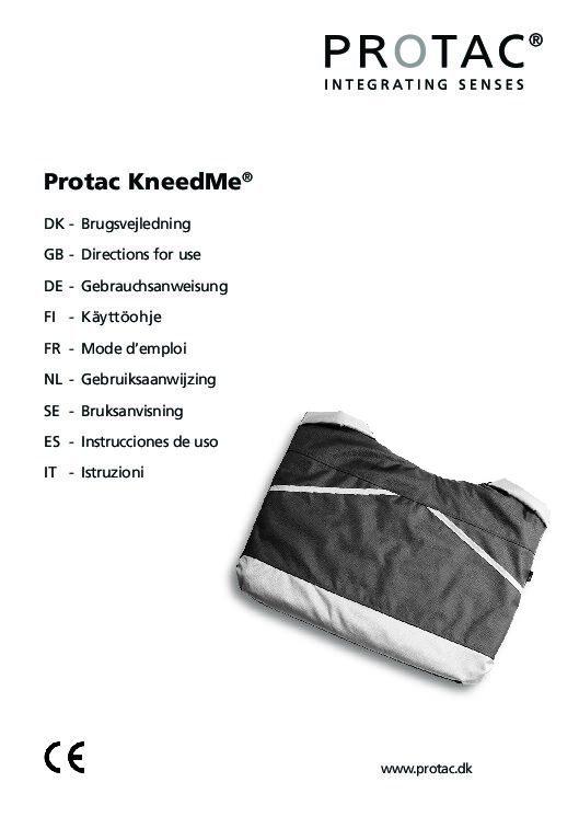 Protac KneedMe User Manual pdf Repose Furniture Protac KneedMe Portable