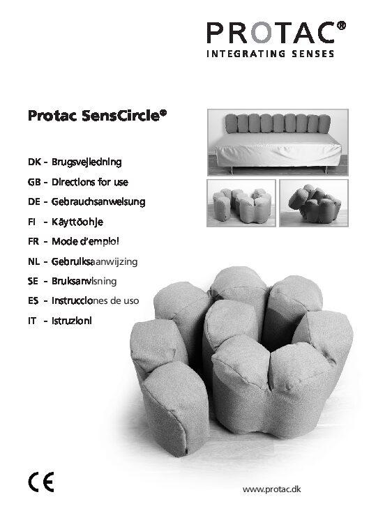 Protac SensCircle User Manual pdf Repose Furniture Protac SensCircle®