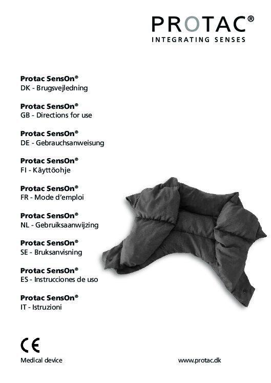 Protac SensOn User Manual pdf Repose Furniture Protac SensOn® Adult
