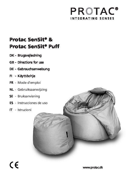 Protac Sensit User Manual pdf Repose Furniture Protac Sensit®